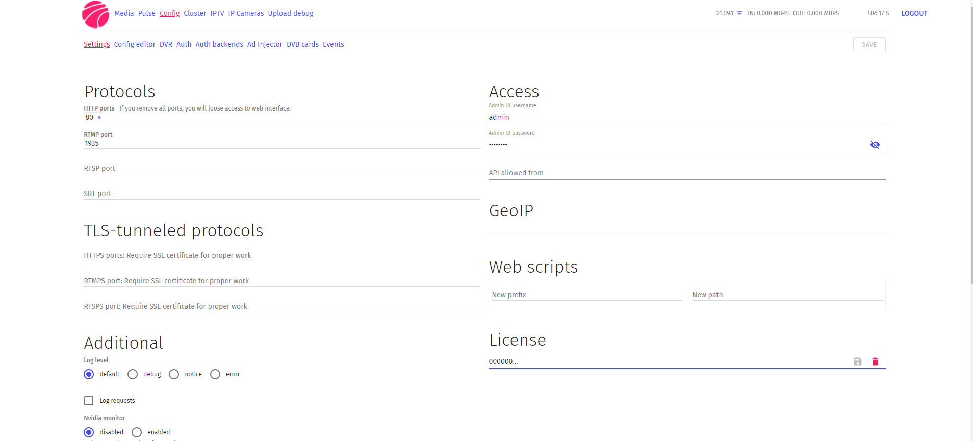 Flussonic 21.09.1 Nulled